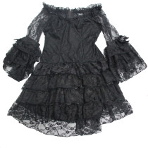 Transparent Lace Embroidery Corset Dress Halloween Accessories