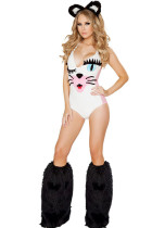 Pretty Pussy Jumpsuit Deep V Funny Animal Costumes