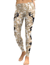 Functional Footprint Floral Print Tights Ankle Length Women
