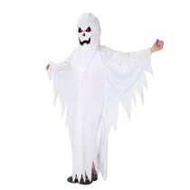 Frightened White Sawtooth Hem Ghost Kids Costumes