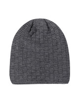 Loose Grey Couple Sports Beanies Knit Plus Cashmere