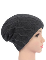 Autumn Grey Knitting Matching Couple Hats Thicker
