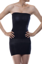 Instant Shaping Black Seamless Body Shaper Tube Dress