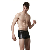Black Faux Leather Insurgent Sprot Underwear