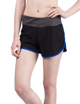Royal Dark Blue Wide Waistband Gym Shorts Lady Middle Waist