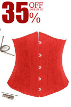 Plus Size Red Steel Boned Corset