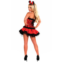 Darling Spotted Print Miss Mouse Costume Dresses