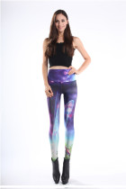 Dreamlike Gorgeous High Waist Cosmic Galaxy Leggings