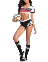 Ultra Sexy Black World Cup Soccer Baby 3 Pieces Costume Set Lightweight