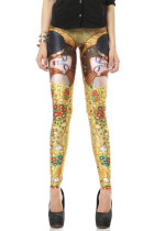 Yellow Charming Girls Pencil Leggings