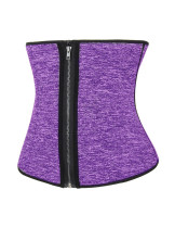 Explicitly Chosen Light Purple Neoprene Plus Waist Trainer Zipper And Hooks