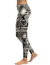 Comfort Elk Branch Pattern Leggings With Milk Silk Female Grace