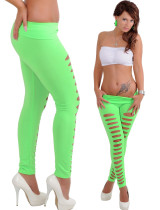 Green Cut Out Legging