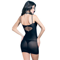 Black Fishnet Sexy See Through Fishnet Dress Lingerie Netted Bodysuit