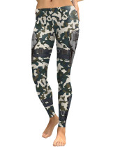 Exquisite Ankle Length Camo Pattern Bottoms High Rise Forward Women