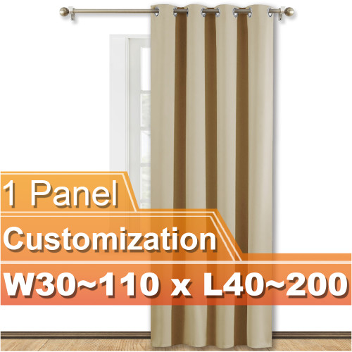 NICETOWN Grommet Blackout Curtain,Width 30-110 inch, Length 40-200 inch, Sold as 1 Panel.