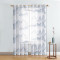 NICETOWN Country Style Mountains Forest and Dragonflies Pattern Sheer Curtains Panels With Grommet Top for Bedroom/Living Room/Study Room/Office, 1 Panel = 52 W, 2 Panels