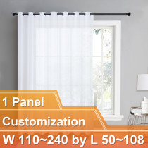 NICETOWN Sheer Curtain Panels Light Weight Grommet Top Drapes, Customize Inch, W110~240 by L40~108, 1 Panel.