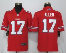 New Nike Buffalo Bills 17 Allen Navy Red Color Rush Limited Jersey