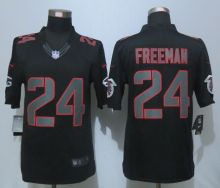 New Nike Atlanta Falcons 24 Freeman Impact Limited Black Jerseys