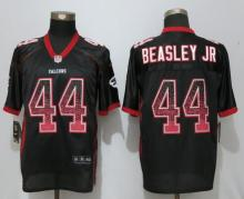 New Nike Atlanta Falcons 44 Beasley jr Drift Fashion Black Elite Jerseys