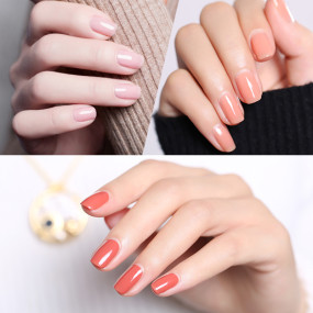 Peach Pearl Color Nail Gel
