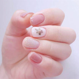 Crystal Pink Color Nail Gel