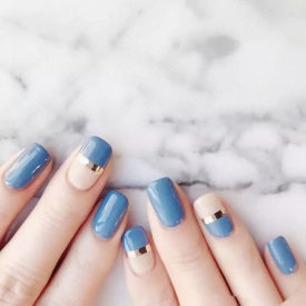 Colorful Blue Haze Nail Gel