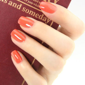 Tangerine Color Nail Gel