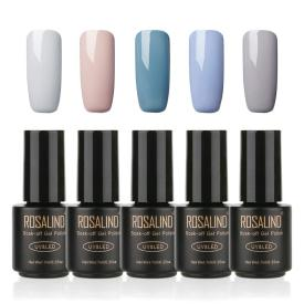Gel Nail Polish  5 PACK,7ml(Gray)