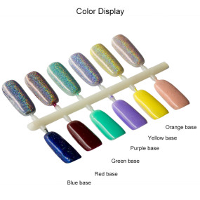 Laser Nail Glitter Peacock Holographic Mirror Powder