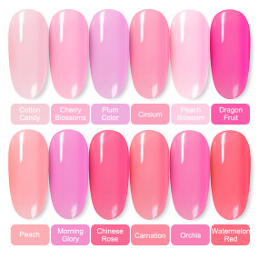 Gel Polish Pink Jelly Pure Color For Nails Hybrid Varnishes Nail Primer Soak Off Primer Manicure