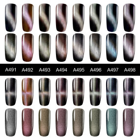 ROSALIND 5D Cat Eyes Gel polish Vernis Semi Permanent Varnish Hybrid Magnetic Soak Off LED UV Gel Nail Polish For Nail Art