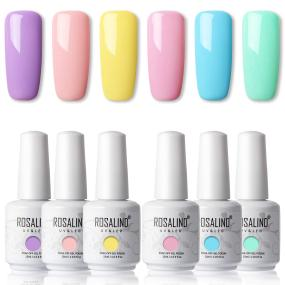 Rosalind Summer Color Collection 6 Bottle X 15 ML UV Nails Gel Classic Pure Color