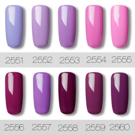 Violet Pearl Color Nail Gel
