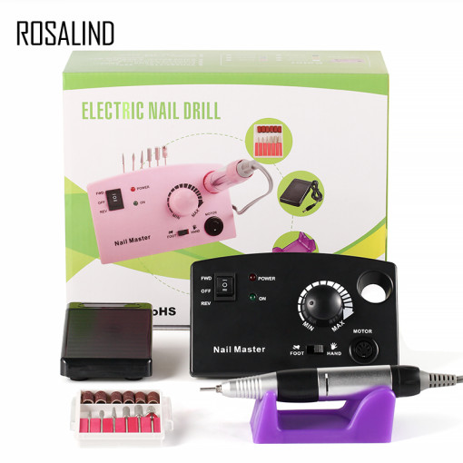 ROSALIND  Electric Nail Drill Bits Set Mill Cutter Machine For Manicure Nail Tips Manicure Electric Nail Pedicure File