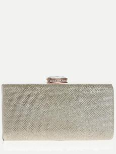 Vinfemass Sequins Solid Color Clutch Bag With Chain