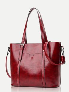 Vinfemass Solid Color Sewing Threads Tote Large Shoulder Bag