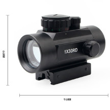 1×30RD Red and Green Dot Sight for WG Game Outdoor Activities - Black