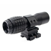 Tactical 5X Magnifier Scope Sight with Flip to Side 20mm Rail Mount Scopes