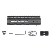 7 Inches NSR RIS/RAS/Rails for BD556/Magpul/ttm/JM Gen.9 Receiver - Black