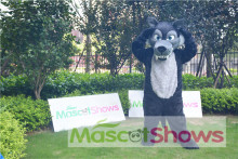 Professional Black Scary Wolf Mascot Costume Unisex Adult Size Wolf Animal For Festival Advertising