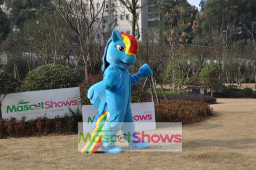 Rainbow Dash Mascot Costume From My Little Pony Rainbow Dash Pegasus Adult Costume