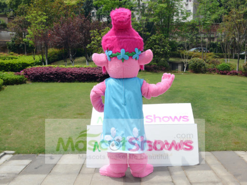 Adult Trolls Poppy Costume Mascot Princess Fancy Dress
