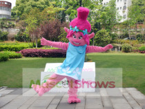 Trolls Gnome Cartoon Character Princess Poppy Mascot Costume Adult
