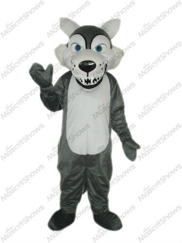 Dark Grey Big Bad Wolf Mascots Costume  Fancy Dress