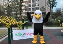 New Version Eagle Mascot Adult Costume Halloween Long Plush Eagle Mascot Costumes Cartoon fashion-paradise
