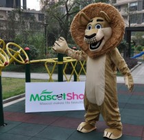 Alex From Madagascar Mascot Costume Lion In Madagascar Mascot Costume