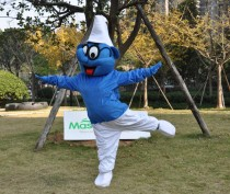 Smurf With A Pair Of Black Glasses Mascot Adult Costume