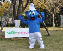 Smurf Wear White Hat Mascot Adult Costume